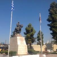 Photo taken at Αφετηρία Πλατείας Καραϊσκάκη by Ira H. on 9/28/2013