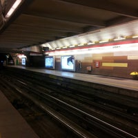 Photo taken at Metro Manquehue by Yasna V. on 6/9/2013