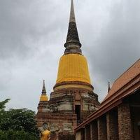 Photo taken at Wat Yaichaimongkol by Chai P. on 6/23/2013