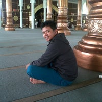 Photo taken at Masjid Agung Al-Falah by Baihaqi M. on 8/10/2013