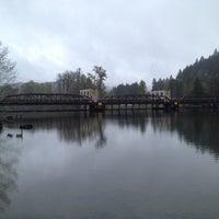 Photo taken at Leaburg Lake by Kevin M. on 4/6/2014