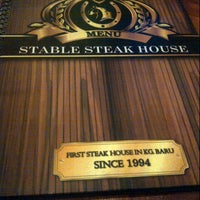 Photo taken at Stable Steak House by Alynd A. on 2/10/2013