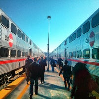 Photo taken at San Francisco Caltrain Station by Juston P. on 5/23/2013