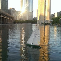 Photo taken at Christian Science Reflecting Pool by Veronica C. on 6/14/2013