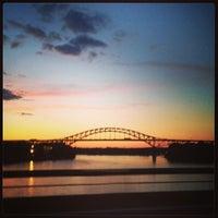 Photo taken at Piscataqua River Bridge by Jen O. on 8/16/2013