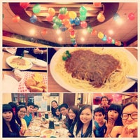 Photo taken at Shakey's by Kate Y. on 3/20/2013