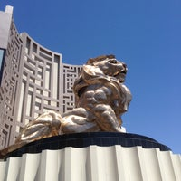 Photo taken at MGM Grand Lion Statue by Shelly Marie B. on 5/15/2013