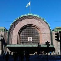 Photo taken at VR Helsinki Central railway station by Jon K. on 3/17/2013