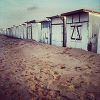 Photo taken at Blériot Plage by Moonsieur P. on 12/30/2013
