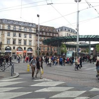 Photo taken at Place de l'Homme de Fer by Martin K. on 9/29/2012