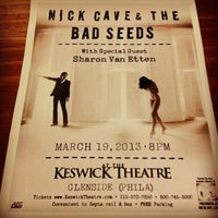 Photo taken at Keswick Theatre by Corinne M. on 3/19/2013