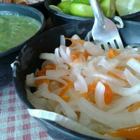 Photo taken at Carnitas del Valle by Tania F. on 2/1/2013