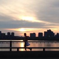 Photo taken at Harvard Bridge by Kate D. on 8/13/2013