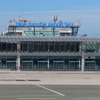 Photo taken at Blue Danube Airport Linz (LNZ) by Chris . on 2/5/2014