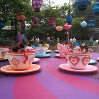 Photo taken at Mad Tea Party by Automne K. on 7/11/2013