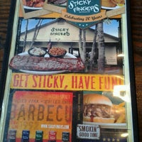 Photo taken at Sticky Fingers Smokehouse by David R. on 4/26/2013