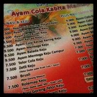 Photo taken at Ayam Cola Kabita by Khairil A. on 9/15/2012