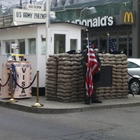 Photo taken at Checkpoint Charlie by Duygu K. on 4/25/2013