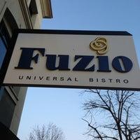 Photo taken at Fuzio Universal Bistro by Frank E. on 3/10/2013