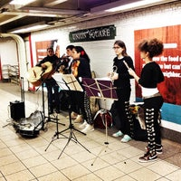 Photo taken at MTA Subway - 14th St/Union Square (L/N/Q/R/4/5/6) by Izzy D. on 2/14/2013