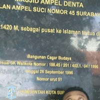 Photo taken at Masjid Agung Sunan Ampel by amj on 2/8/2016