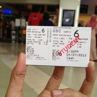 Photo taken at Golden Screen Cinemas (GSC) by Fatin Z. on 7/4/2013