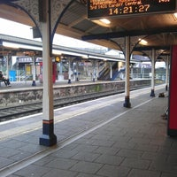 Photo taken at Fratton Railway Station (FTN) by Jane R. on 1/17/2013