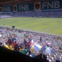 Photo taken at Free State Stadium (Vodacom Park) by Oscar M. on 10/14/2012