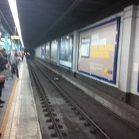 Photo taken at Wynyard Station (Main Concourse) by Tyson on 7/26/2013