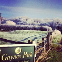 Photo taken at Gaynes Park by Liselle C. on 12/12/2012