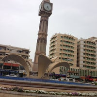 Photo taken at Sharjah Clock Tower by Prem N. on 4/27/2013