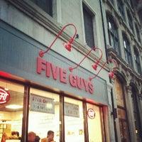 Photo taken at Five Guys by Arturo C. on 9/29/2012