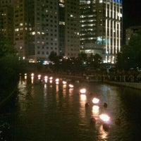 Photo taken at WaterFire Providence - Waterplace Park by Nate A. on 8/14/2011