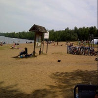 Photo taken at Lake Marie-Louise Beach by Tracy C. on 8/6/2011