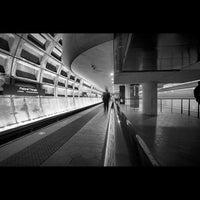 Photo taken at Pentagon City Metro Station by Luis G. on 4/27/2013