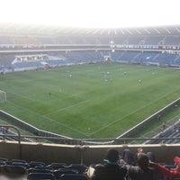Photo taken at Orlando Stadium by Thapelo C. on 5/18/2013