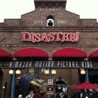 Photo taken at Disaster!: A Major Motion Picture Ride...Starring You! by Christopher Y. on 1/4/2013
