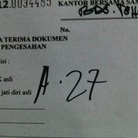 Photo taken at Samsat Bandung Tengah by 54NDY D. on 12/7/2012