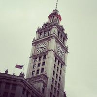 Photo taken at Wrigley Building by Andrea L. on 12/8/2012
