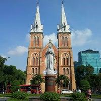 Photo taken at Saigon Notre-Dame Basilica by Colin F. on 4/6/2013