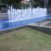 Photo taken at Praça Diogo de Vasconcelos (Praça da Savassi) by Rafael P. on 11/8/2012