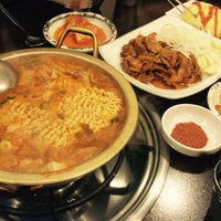 Photo taken at 청담동 장독대 김치찌개 by Narae C. on 10/5/2015