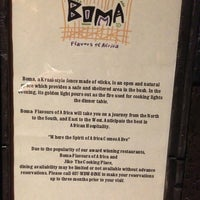 Photo taken at Boma Flavors of Africa by Earl K. on 1/20/2013