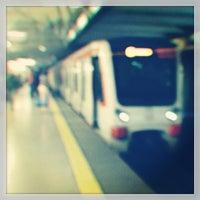 Photo taken at Metro Manquehue by Felipe P. on 6/24/2013
