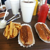 Photo taken at Brandi's World Famous Hot Dogs by Terry on 4/17/2014