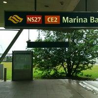 Photo taken at Marina Bay MRT Interchange (NS27/CE2) by Naii A. on 7/22/2016