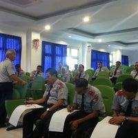 Photo taken at Sekolah Tinggi Transportasi Darat (STTD) by Wahyu S. on 11/4/2014