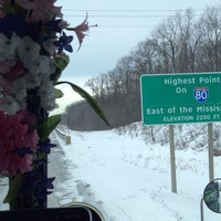 Photo taken at Highest Point East of the Mississippi on I-80 by Nancy on 3/3/2014