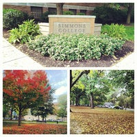 Photo taken at Beatley Library, Simmons College by Jessica on 10/15/2012