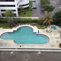 Photo taken at Sheraton Fort Lauderdale Airport & Cruise Port Hotel by Deborah on 4/7/2013